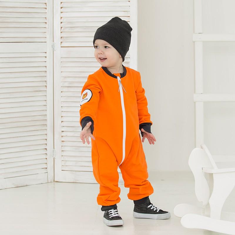 sweatoverall hausanzug orange ohne kapuze babyshop one. Black Bedroom Furniture Sets. Home Design Ideas
