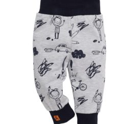Pinokio Leggings Xavier in grau mit Print, Kinder