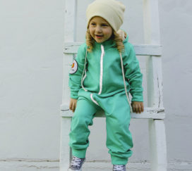 Bambinizon Sweat Overall für Babys in Mint