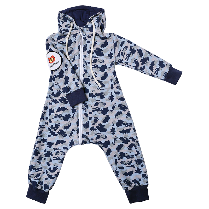 sweatoverall camouflage in hellblau babyshop one. Black Bedroom Furniture Sets. Home Design Ideas