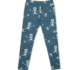 Raspberry Republic Baby Kinder Leggings Weltraumforscher in blau